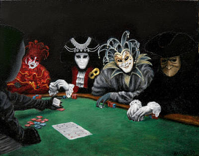 Poster featuring the painting Poker Face by Jason Marsh