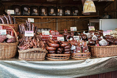Poland Meat Market Poster