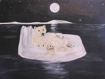 Polar Bear On Ice Poster