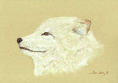Polar Fox Portrait Poster by Juan  Bosco