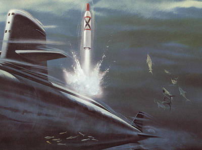Polaris Surface To Surface Rocket Poster by American School