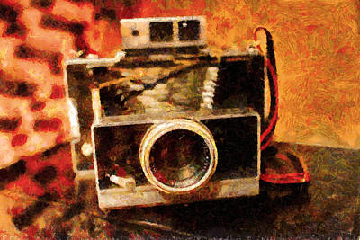 Polaroid Land Camera Model 100 . Painterly . 7d13289 Poster by Wingsdomain Art and Photography