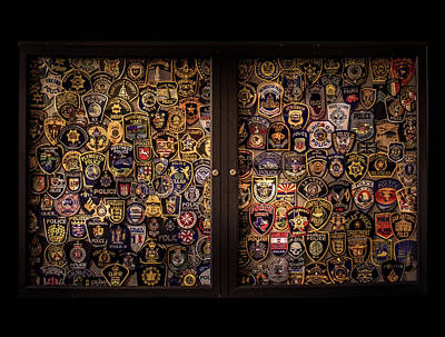 Police Department Patches Poster