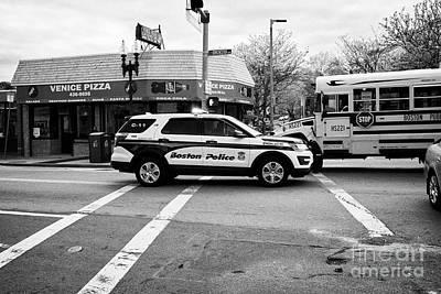 police police ford interceptor suv patrol vehicle on call Boston USA Poster