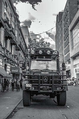 Police Truck - Mexico City Poster by Totto Ponce