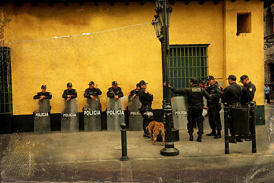 Policia In Lima Peru Poster by Kathryn McBride