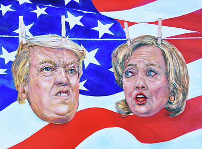Political Hangups Poster by Steven Boone