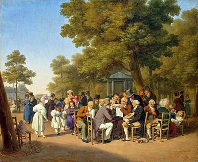 Politicians In The Tuileries Gardens  Poster by MotionAge Designs