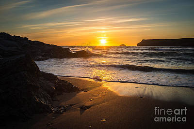 Polzeath Sunset Poster