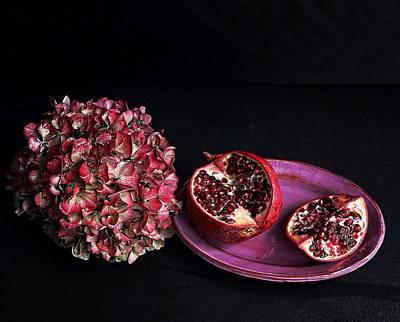 Pomegranate Still Life Poster