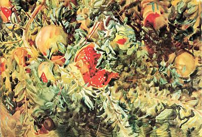 Pomegranates Poster by John Singer Sargent