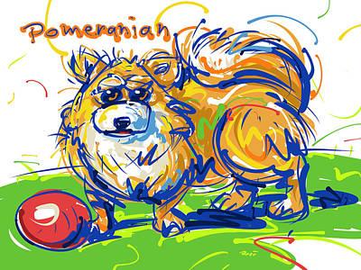 Pomeranian Poster by Brett LaGue