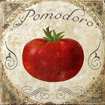 Pomodoro Tomato Italian Kitchen Poster by Mindy Sommers