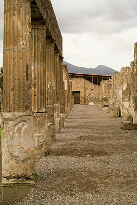 Poster featuring the photograph Pompeii Columns by Michael Flood