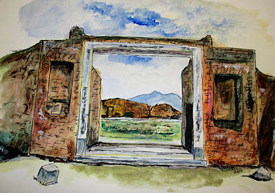 Pompeii Doorway Poster by Clyde J Kell