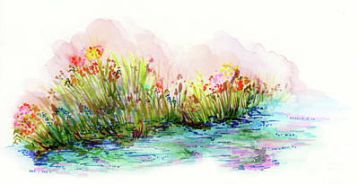Sunrise Pond Poster