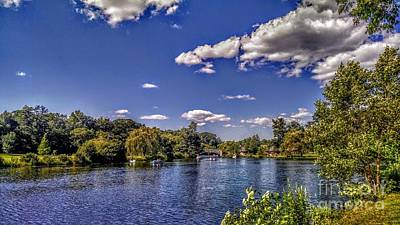 Pond At Verona Park Poster