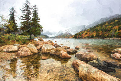 Pond In The Mountains II Poster by Jon Glaser
