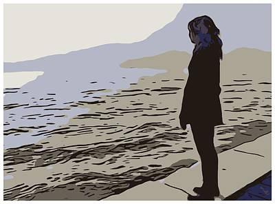 Pondering Sea Poster