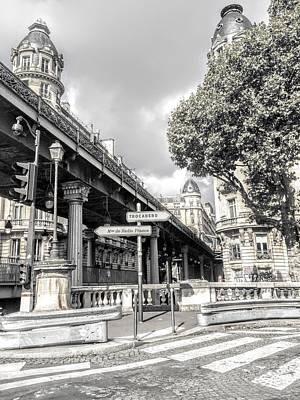 Pont De Bir-hakeim, Paris, France Poster