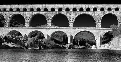Poster featuring the photograph Pont Du Gard Panorama by Richard Goodrich
