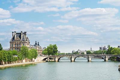 Pont Royal In Paris Poster by Anastasy Yarmolovich