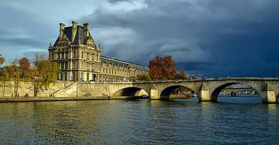 Pont Royal Over The River Seine Poster by Barry Marsh