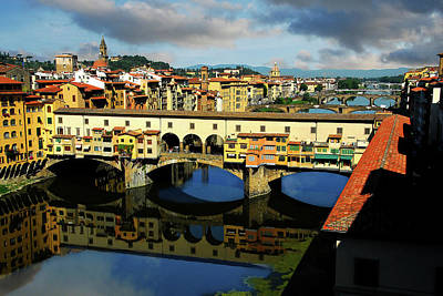 Ponte Vecchio View  Poster by Harry Spitz