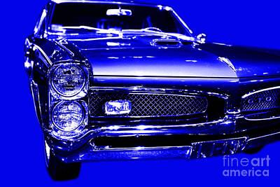 Pontiac Gto Blue Poster
