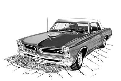 Pontiac Gto Convertible Poster