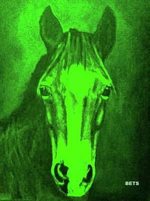 Pony Art Pony Painting Mi Amore Light Green Poster