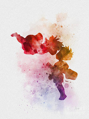 Ponyo Poster by Rebecca Jenkins