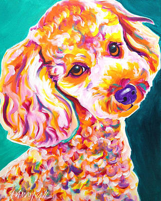Poodle - Curly Poster by Alicia VanNoy Call