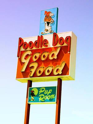 Poodle Dog Diner Poster by Kathleen Grace