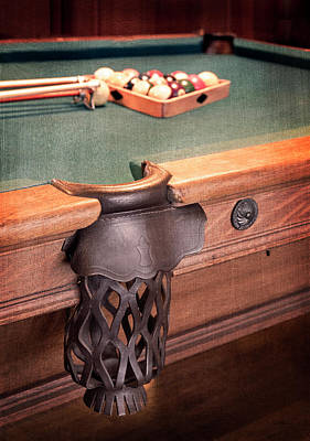 Pool Table Leather Mesh Side Pocket Poster