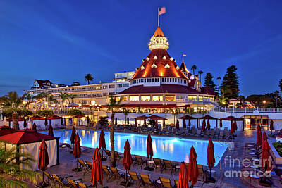 Poolside At The Hotel Del Coronado  Poster by Sam Antonio Photography
