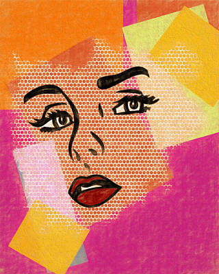 Poster featuring the mixed media Pop Art Comic Woman by Dan Sproul