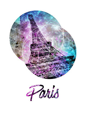 Pop Art Eiffel Tower Graphic Style Poster by Melanie Viola