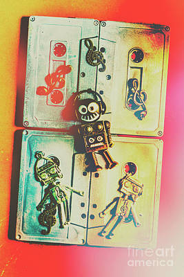 Pop Art Music Robot Poster