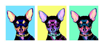 Pop Chihuahua Poster by Laura Sotka