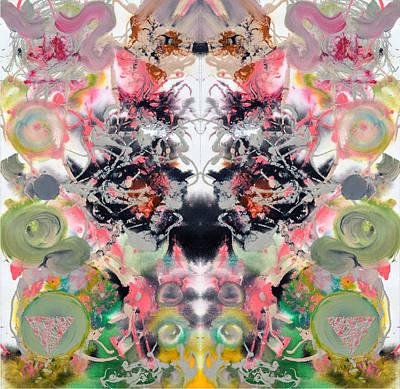 Pop Fluid 7 Art Poster by Sumit Mehndiratta