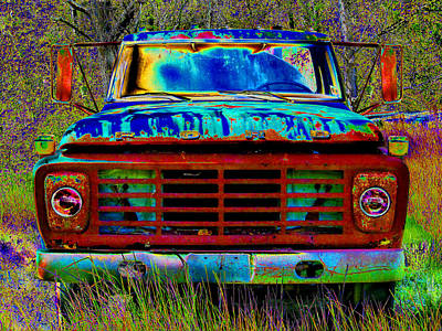 pOp ArT Ford Truck Poster by Mike McGlothlen