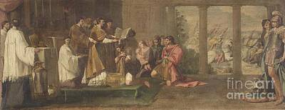 Pope Sylvester Baptizing Constantine Poster