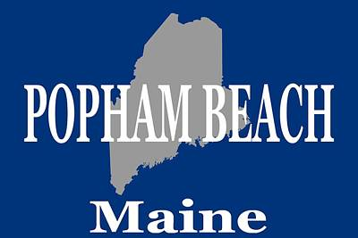 Poster featuring the photograph Popham Beach Maine State City And Town Pride  by Keith Webber Jr