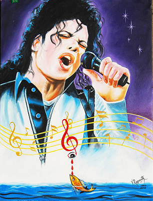 Popking Michael Jackson Poster by Ragunath Venkatraman