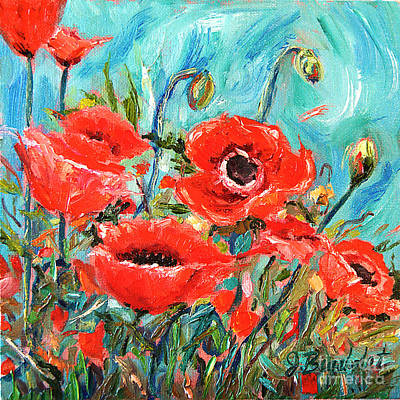 Poster featuring the painting Poppies Delight by Jennifer Beaudet