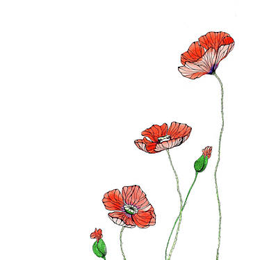 Poppies Poster by Elena Vinnikova