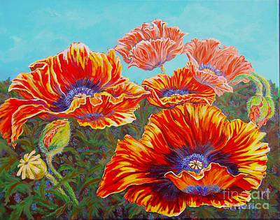 Poppies Poster by Gail Allen