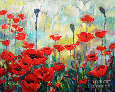 Poster featuring the painting Poppies In Bloom by Jennifer Beaudet