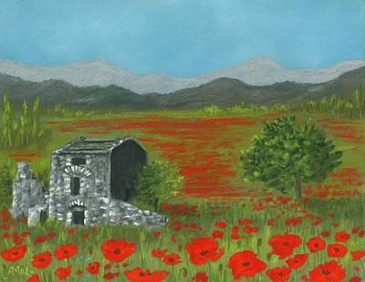 Poppies In Provence  Poster